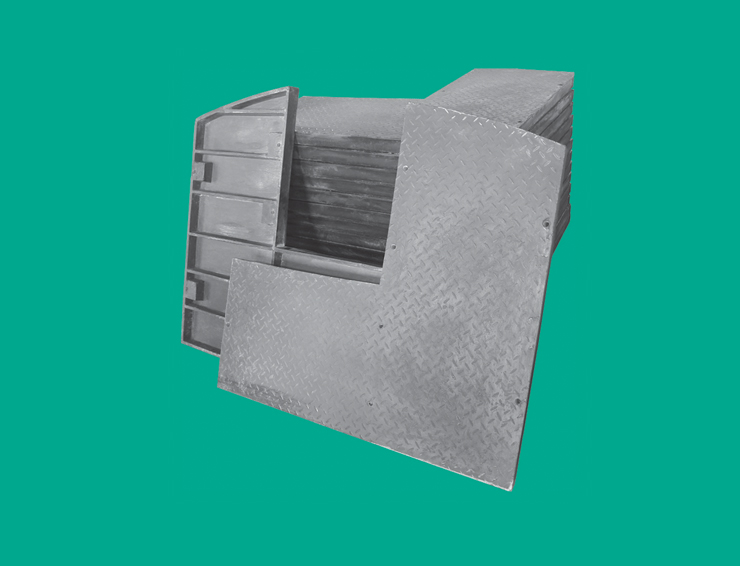 模压型玻璃钢梯子间装备平台板